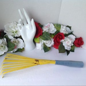 Vintage Garden Hand Rake Metal Tool